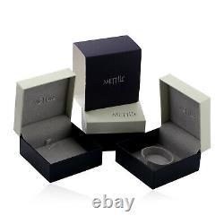 1.29ct White/Black Pave Diamond Sterling Silver Designer Engagement Ring Gift