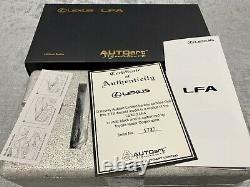 118 Lexus LFA (Matt Black) AUTOart Signature BNIB COA RARE Great Xmas Gift