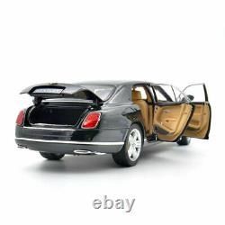 118 Scale Bentley Mulsanne Limousine Model Car Diecast Vehicle Black Xmas Gift