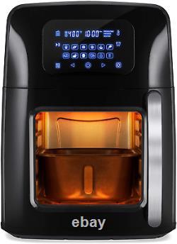 12.4qt 1700W 12-in-1 XL Air Fryer Oven Rotisserie Dehydrator Fries Bakes Roasts