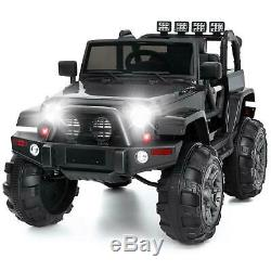 12V SUV Style Electric Kids Ride On Car Toy RC Remote Control Xmas Gift Black