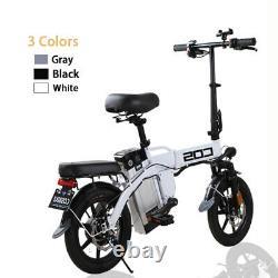 14 350W Motor Folding City Electric Bike 48V 14AH Li-Ion Battery Xmas gifts