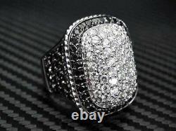 2 ct Black Sim Diamond Dome Shape Men's Statement Ring Free Gift Stud Christmas