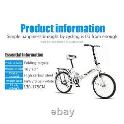 20 7 Speed City Folding Compact Bike Bicycle Urban Commuter Cycling Xmas Gifts