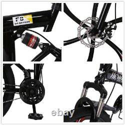 26 Folding Mountain Bike 21 Speed Bicycle Disc Full Suspension MTB Xmas Gifts