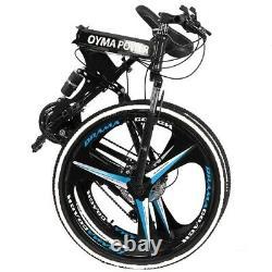 26 Folding Mountain Bike Shimano MTB Bicycle 21 Speed Full Suspension Xmas Gift