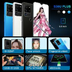 6.8 In Smartphone 12G+512G Android 10 Deca Core Mobile Cell Phone Xmas Best Gift