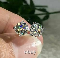 6 Ct Black & White Sim Diamond Men's Pinky Ring Free Gift Stud Christmas Silver