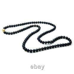 7mm Japanese Akoya Saltwater Pearl Necklace Gold Pacific Pearls Christmas Gifts