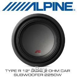 Alpine R-W12D2 Type R 12 Dual 2Ohm Car Subwoofer 2250W BNIB