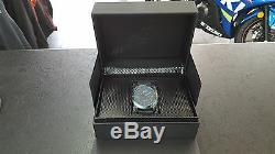 Alpinestars Tech Watch 3h Steel Case Black Blue Face Canvas Strap Xmas Gift