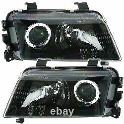 Audi A4 B5 Black Projector Headlights Headlamps 11/1994 1/1999 Christmas Gift