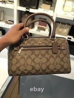 Authentic Coach Christmas gift idea Signature Rowan Satchel Handbag Crossbody