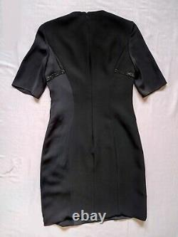 Authentic Versace Black Crystal Embellished Silk Dress Christmas GiftRRP £2870