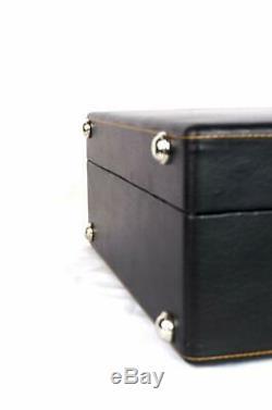 Black Butterfly Wooden Matt Briefcase Bar Set Black (Best gift for Christmas)