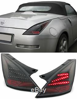 Black Led Tail Lights For Nissan 350z 2002-2005 Prefacelift Model Christmas Gift