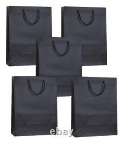 Black Matt Laminated Party Gift Bags Christmas Birthday Medium Present Bag