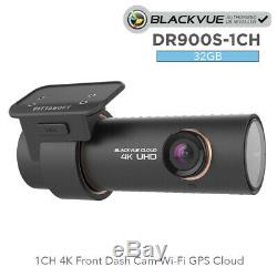 BlackVue DR900S-1CH 4K Front Dash Cam (32GB) Wi-Fi GPS Cloud BNIB
