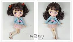 Blythe Nude Doll Factory Black Purple Hair Make-up Eyebrow Sleep Eyes xmas gift