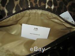 Coach OCELOT LEOPARD Getaway Nylon Large PACKABLE Travel Weekender Bag 77405 set