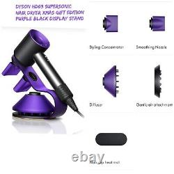 DYSON HD03 Supersonic Hair Dryer Xmas Gift Edition Purple/black +Display Stand