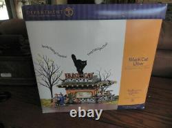 Dept 56 Halloween Gift Set! Snow Village, Black Cat Diner! Set of 4