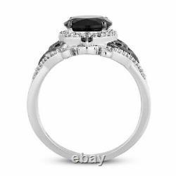 Disney Treasures Nightmare Christmas Black Onyx Silver Women Gift Wife Her Ring