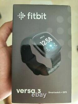Fitbit Versa 3 Activity Tracker Black/Black Aluminum, Perfect Christmas gift