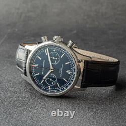 GLAMOR MASTER 40mm SWAN NECK Chrono Mechanical MENS Watch SEAGULL 1963 BLUE