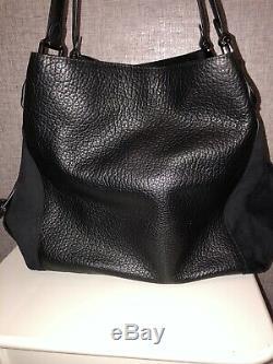 Genuine Coach Black Handbag Suede Sides Christmas Gift Women Fashion New