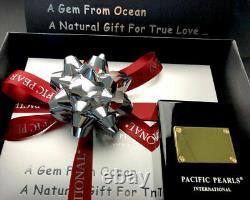 Genuine Pacific Pearls 13mm Tahitian Diamond Pearl Pendant Gold Christmas Gifts