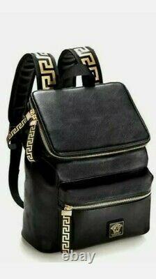 Genuine Versace Parfum Black Backpack Rucksack Faux Leather Travel Bag Xmas Gift