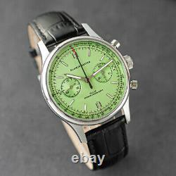 Glamor Master 40mm SWAN NECK Chronograph Mechanical Watch SEAGULL 1963 Green
