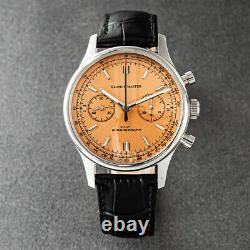 Glamor Master 40mm SWAN NECK Chronograph Mechanical Watch SEAGULL 1963 Orange