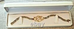 Gorgeous Diamond & Black Hills Gold Tennis Bracelet- Great Christmas Gift