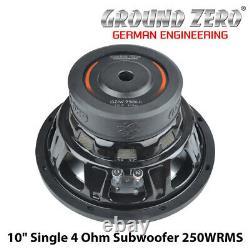 Ground Zero GZIW 250X-II 10 Single 4 Ohm Car Subwoofer 250WRMS BNIB
