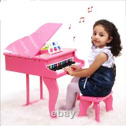 HYGRA Children's Kids First Musical Wooden Toy Piano Best Gift For Birthday Xmas