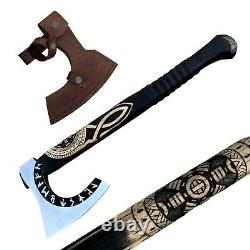 Hand forged Viking Axe Medieval battle Viking tomahawk Best Xmas gift