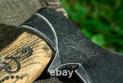Hand forged Viking Axe Medieval battle Viking tomahawk Best Xmas gift 73