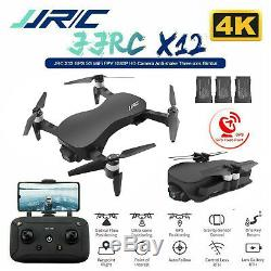 JJRC X12 4K Drone with Camera 5G WiFi FPV 3Axis Gimbal GPS RC Drone +Bag Xmas Gift