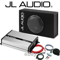 JL 8 Shallow Subwoofer Slot Port Box Amp Package Bass Deal 500W Max Power