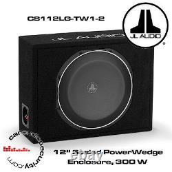 JL Audio CS112LG-TW1-2 PowerWedge 12 TW1 Subwoofers in Custom Sealed Box 300W
