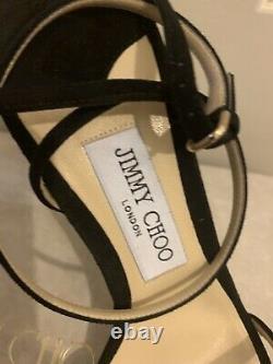 Jimmy Choo Mimi 100 Sandals, Black 41(8)Worldwide Quick Dispatch Gift Idea