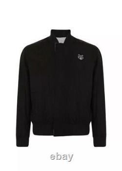 Kenzo Bomber Jacket Coat Reversible (M) New Black Grey Birthday Christmas Gift