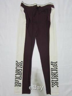 LOT Victoria Secret Pink COLORBLOCK BLACK ORCHID SWEAT SHIRT HOODIE M PANT L SET