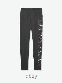 LOT Victoria Secret Pink TIE DYE CLOUDY OMBRE TEE SHIRT GRAY LEGGING PANT M SET