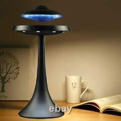 Levitating Floating Bluetooth Speaker Magnetic UFO Lamp Xmas Birthday Gift Black