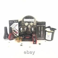 Luxury DREAM Gift Box! -Goth-Black Bath Bombs, Kat Von D, Lime Crime, NYX, Candle
