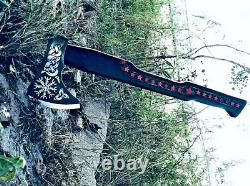 MDM Hand Forged High Carbon Throwing Axe Camping Burchcraft Christmas Gift Pack