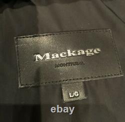 Mackage Down Jacket With Fur Trim Hood Black, Gift Idea